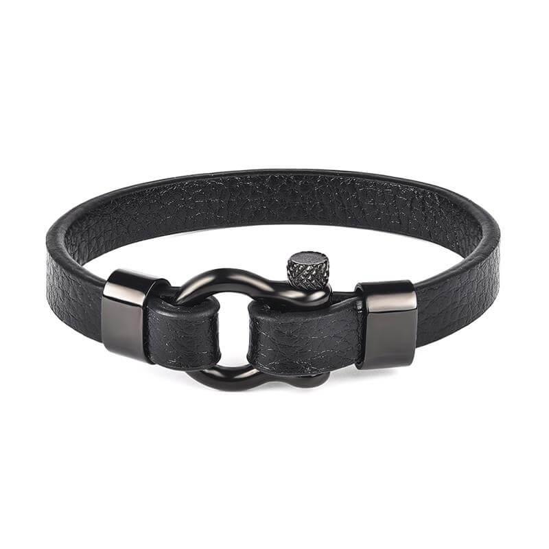 men-s-simple-leather-bracelet-with-horseshoe-buckle