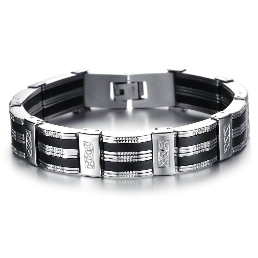 stainless-steel-bracelet-with-silicone-rubber-elements